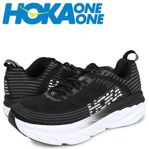 【最大2000円OFFクーポン】 HOKA ONE ONE ホカオネオネ ボンダイ6 スニーカー メンズ BONDI 6 ブラック 黒 1019269 [予約 5/29 追加入荷予定]