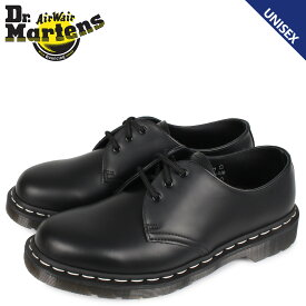 ドクターマーチン Dr.Martens 1461 3ホール シューズ メンズ レディース WHITE STITCH 3EYE SHOES ブラック 黒 R24757001