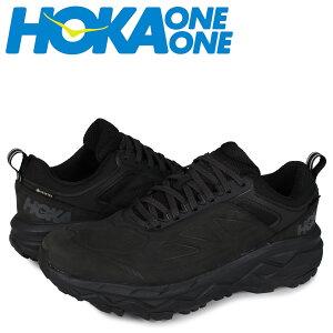 【最大2000円OFFクーポン】 HOKA ONE ONE ホカオネオネ チャレンジャー スニーカー メンズ 防水 厚底 CHALLENGER LOW GTX ブラック 黒 1106517 [予約 5/29 新入荷]