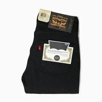 利瓦伊的滑板滑板 511 修身 5POCKET 鱼子酱 95581-0009 男士 LEVIS 裤子男士李维斯 511 滑板牛仔短裤李维斯滑冰黑黑的黑色拉伸