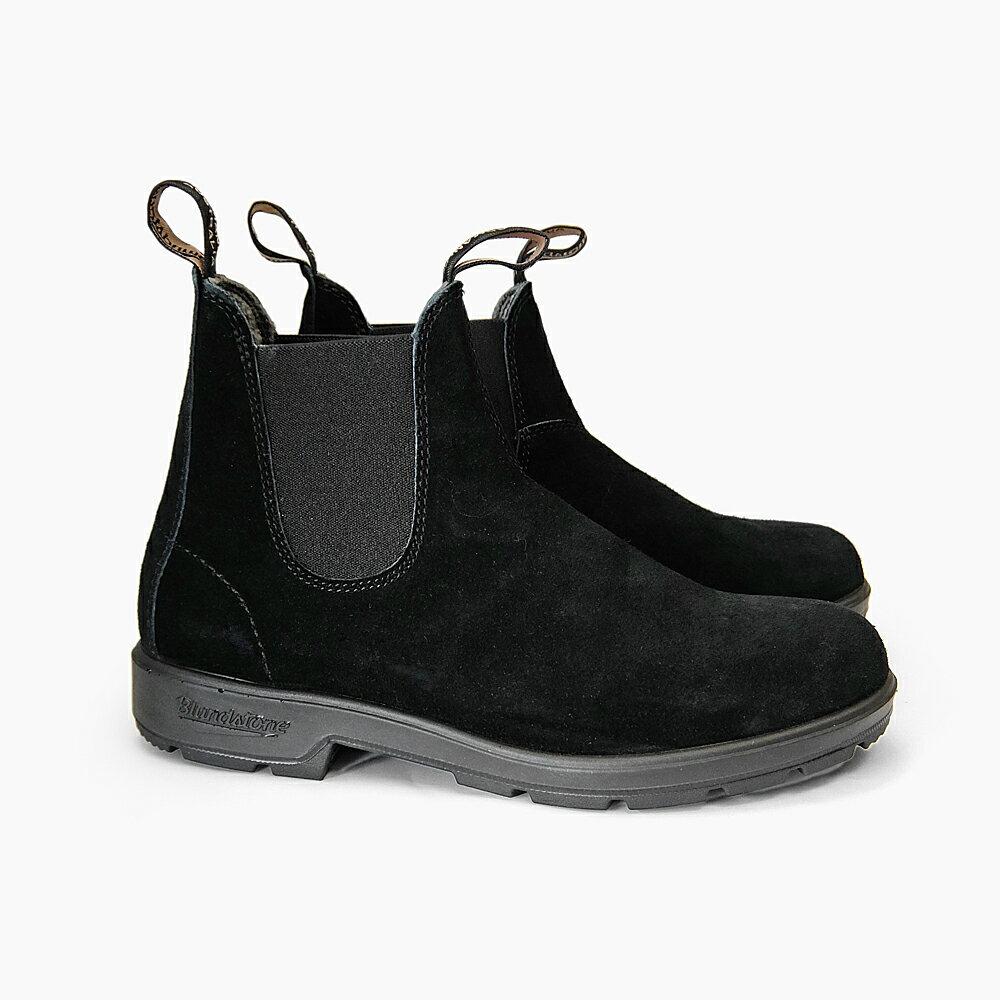 BLUNDSTONE 1455 ブランドストーン BS1455009 BLACK BROWN メンズ レディース ブーツ サイドゴア スエードレザー 黒