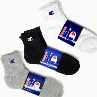 冠軍 3 p 充分雙季長度襪子 3 雙襪子男式襪子白色黑色灰色標誌黑白灰運動鞋襪子短襪子踝關節