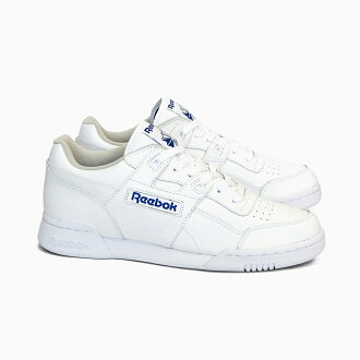 Koop Authentiek arriveert authentieke kwaliteit REEBOK CLASSIC Reebok classical music Lady's sneakers practice game plus  WORKOUT PLUS 2759 fitness training white / royal blue running shoes white  ...