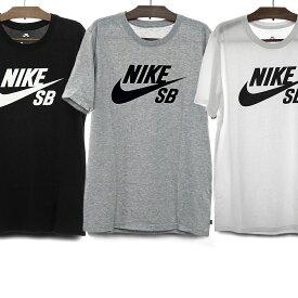 【メール便配送対応】NIKE SB ナイキSB Tシャツ メンズ レディース DRY-FIT LOGO TEE[821947 013 BLACK/WHITE 069 DGREYH/BLACK 100 WHITE/BLACK] ナイキ ドライフィット 速乾 ティーシャツ 半袖 黒 白 グレー S/M/L ロゴTシャツ スウッシュ スケートボード ストリート
