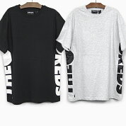 ザハンドレッズ半袖TシャツTHEHUNDREDSSIDEWAYSSST-SHIRTT18S209002ブラックグレーBARLOGOバーロゴラインティーシャツ黒トップス