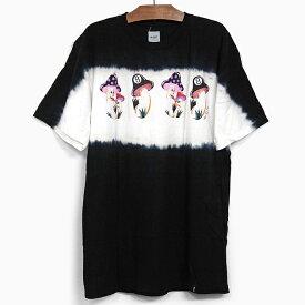 HUF X CHLOE KOVSKA ハフ コラボ Tシャツ CHLOE K SHROOM S/S TEE BLACK ハフ クロエ・カヴスカ マッシュルームグラフィック 半袖Tシャツ ブラック 黒