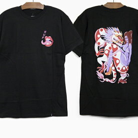 HUF X CHLOE KOVSKA ハフ コラボ Tシャツ CHLOE K DRAGON S/S TEE BLACK ハフ クロエ・カヴスカ ドラゴン グラフィック バックプリント 半袖Tシャツ ブラック 黒
