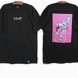 【全品クーポン対象】HUF X SORAYAMA ハフ コラボ Tシャツ SORAYAMA RIDE S/S TEE BLACK ハフ 空山基 グラフィック 半袖Tシャツ ブラック 黒