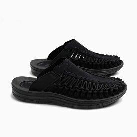 KEEN キーン ユニーク スライド UNEEK SLIDE BLACK/BLACK 1017218 1017258 メンズ レディース サンダル スニーカー 野外フェス アウトドア キャンプ ブラック 黒 プレゼント