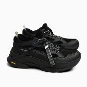 ブランドブラックメンズスニーカーサガBRANDBLACKSAGA[BLACK426BB-BBK]黒ブラックオールブラック靴ダッドスニーカー