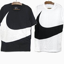 【メール便配送対応】NIKE ナイキ Tシャツ メンズ レディース HYBRID SWOOSH 1 S/S TEE [AR5192 010 BLACK/WHITE 103 WHITE/BLACK]ユニセックス ナイキスポーツウェア ハイブリッド 半袖 コットン 黒 白 S/M/L BIGロゴTシャツ スウッシュ ストリート カジュアル トップス