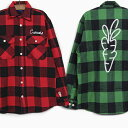キャロッツ メンズ フランネル シャツ CARROTS SIGNATURE LUMBERJACK FLANNEL [RED GREEN]CARROTS BY ANWAR CARROTS …