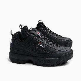 フィラ レディース スニーカー FILA DISRUPTOR 2 [BLACK F0215 1073] ディスラプター2 黒 ブラック オールブラック 靴 ダッドスニーカー 定番 ダッドシューズ