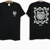 【メール便送料無料】RIPNDIPリップンディップTシャツILLUSIONS/STEE[BLACK]メンズレディースRIPNDIPブラック黒半袖ティーシャツコットンプリントスケートボードストリート猫RIPNDIP