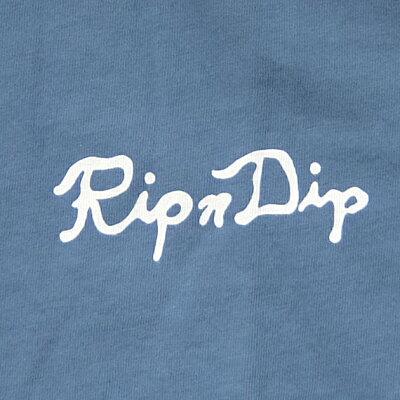 RIPNDIPリップンディップTシャツPEARLS/STEE[SLATE]メンズレディースRIPNDIPグレーバックプリント半袖ティーシャツコットンプリントスケートボードストリート猫RIPNDIP