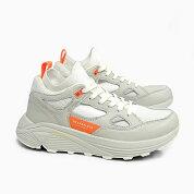 ブランドブラックメンズスニーカーオーラBRANDBLACKAURA[WHITE/ORANGE421BB-WOR]白ホワイトオレンジ靴ダッドスニーカー