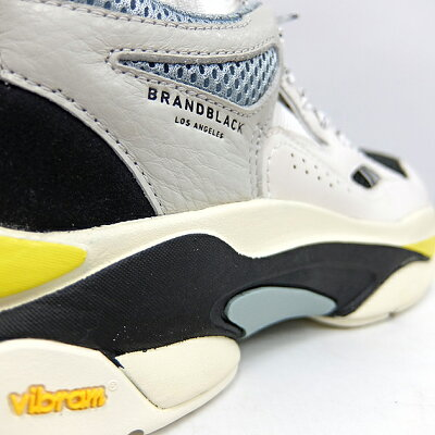 ブランドブラックメンズレディーススニーカーサガBRANDBLACKSAGA[WHITE/BLACK/YELLOW426BB-WBKY]白ホワイトマルチカラー白黒黄靴ダッドスニーカー