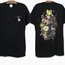 RIPNDIP リップンディップ Tシャツ HEAVINLY BODIES S/S TEE[BLACK] メンズ レディース RIP N DIP ブラック 黒 半袖 ティーシャツ コットン プリント スケートボード ストリート 猫 RIPNDIP