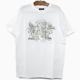 RIPNDIP リップンディップ Tシャツ NERM PARADISE S/S TEE[UV ACTIVATED INK WHITE] メンズ レディース RIP N DIP ホワイト白 半袖 ティーシャツ コットン プリント スケートボード ストリート 猫 RIPNDIP