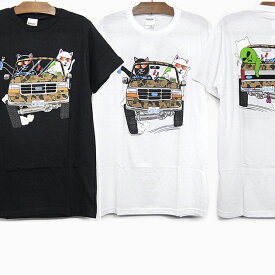 RIPNDIP リップンディップ Tシャツ THE WHOLE GANG S/S TEE[BLACK WHITE] メンズ レディース RIP N DIP ホワイト 白 ブラック 黒 半袖 ティーシャツ コットン プリント スケートボード ストリート 猫 RIPNDIP
