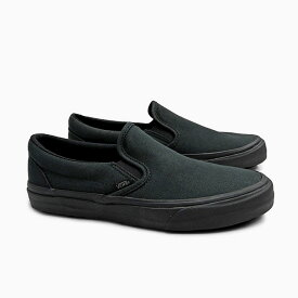 【全品クーポン対象】VANS バンズ スリッポン CLASSIC SLIP-ON UC MEN'S [(MFTM)BLACK/BLACK/BLACK VN0A3MUDV7W]メンズ スリップ オン オールブラック ブラック 黒 撥水キャンバス 店舗限定 スニーカー 作業靴 ワークシューズ