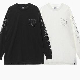 【メール便対応】DC SHOES メンズ 長袖 Tシャツ GARDNER SKETCH LS TEE [ADYZT04681 KVJO WBB0] 白/黒 M/L DCシューズ スケッチ プリント ロゴ