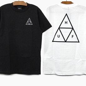 【40%OFF】【並行輸入品】HUF ハフ Tシャツ ESSENTIALS TT S/S TEE ハフ 半袖 Tシャツ 黒/白 ロゴ プリント