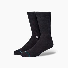 STANCE SOCKS スタンスソックス ICON BLACK/WHITE スタンス ソックス MEN'S 新作 メンズ 靴下