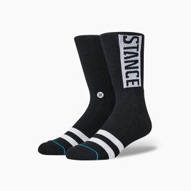 STANCE SOCKS スタンスソックス OG BLACK スタンス ソックス MEN'S 新作 メンズ レディース キッズ 靴下