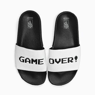 客货车任天堂幻灯片上货车任天堂任天堂协作幻灯片妇女凉鞋运动凉鞋淋浴凉鞋游戏结束了 ! 黑色和白色白色黑色