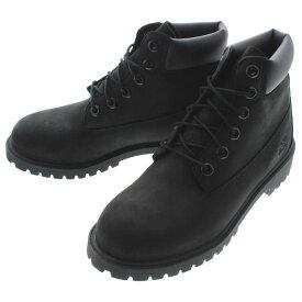 定番 子供 ティンバーランド Timberland プレミアム 6インチ ウォータープルーフ ブーツ ブラックヌバック TB012907 (12907)