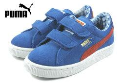 彪馬 PUMA 孩子麂皮絨超人 V 瑞典人超人 V 孩子強烈的藍色和紅色 / 毛茛 357654-01