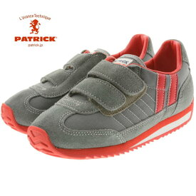 交換・返品 送料無料 定番 子供 パトリック PATRICK MARATHON-V マラソン ベルクロ GRY グレー EN7524 [N]