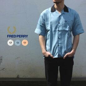 93ba64a98702 フレッドペリー FRED PERRY ウェア オープンカラー半袖シャツ F4508 10(ホワイト) 12(