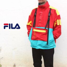 フィラ FILA アウター ハーフジップジャケット レッド FM9673-11 [WA]【FNON】