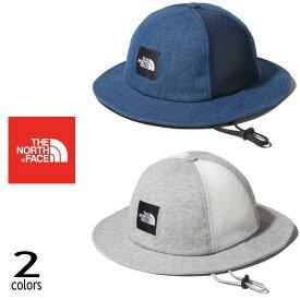 【5%OFFクーポンあり】子供 ノースフェイス THE NORTH FACE 帽子 キッズ スクエア ロゴ メッシュ ハット KIDS SQUARE LOGO MESH HAT NNJ02002 インディゴ(ID) ミックスグレー(Z)【GOOH】