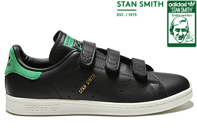 adidas Originals STAN SMITH CF BZ0533 CORE BLACK/CORE BLACK/GREENアディダス オリジナルス スタンスミス コアブラック グリーン メンズ レディース ベルクロ スニーカー 定番