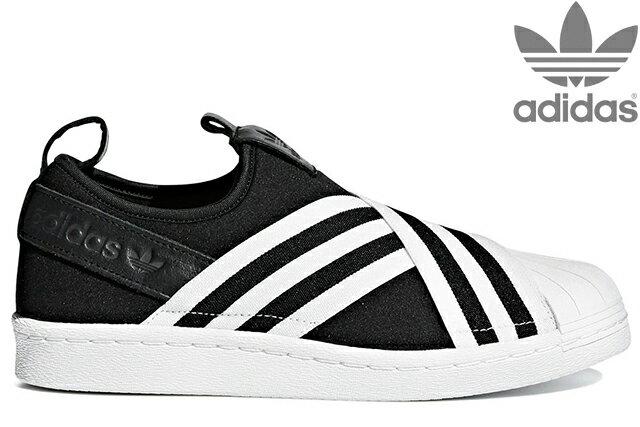 adidas Originals SUPERSTAR SLIPON W AC8582 CORE BLACK/RUNNING WHITE/RUNNING WHITEアディダス オリジナルス スーパースタースリッポン W ブラック ウイメンズ レディース スニーカー 定番