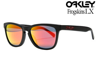OAKLEY FROGSKINS LX SUNGLASSES ASIAN FIT 002039-02 MATTE BLACK/RUBY IRIDIUM okurifuroggusukineruekkusuajianfittosangurasumattoburakkurubiirijumumira