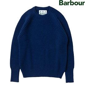 「Sale!」 BARBOUR 「WHITE LABEL」 TYNEDALE CREW MKN1204-BL53 BLUEバブアー ホワイト レーベル タインデール クルー ネック ニット ブルー メンズ バーブァー セーター 20ss3