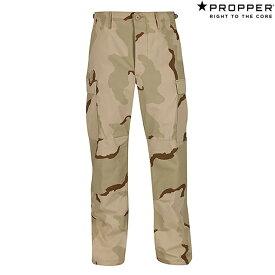 Propper BDU Trouser Button Fly - 100% Cotton Ripstop F5201 Desert Camo (Short or Regular)プロッパー BDU トラウザー カーゴ アーミー ミリタリー パンツ デザート カモ 迷彩 アメリカ軍 キャンプ アウトドア
