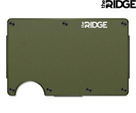 the RIDGE 「Cash Strap」 Aluminum - Matte Oliveザ リッジ キャッシュ ストラップ アルミニウム マットオリーブ 財布 カードケース ID パスケース 定期入れ USA