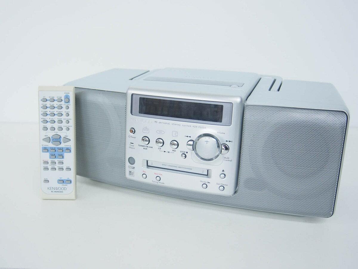 【中古】KENWOODケンウッド MDパーソナルステレオシステム RAMPAGE CD/MD/ラジオ MDLP対応 KDX-FG550 オーディオ