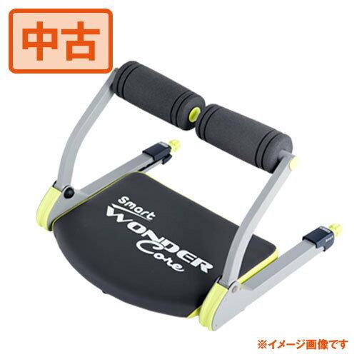 【中古】ショップジャパン ワンダーコアスマート WONDER Core Smart 腹筋マシン 倒れるだけで腹筋 ライムグリーン【RP】