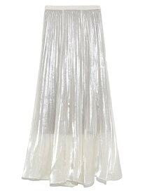 【SALE/30%OFF】シアープリーツスカート SNIDEL スナイデル スカート ロングスカート ホワイト ピンク【RBA_E】【送料無料】[Rakuten Fashion]