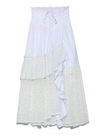 [Rakuten Fashion]【SALE/45%OFF】ストライプMIXSK SNIDEL スナイデル スカート スカートその他 ホワイト オレンジ イエロー【RBA_E】【送料無料】
