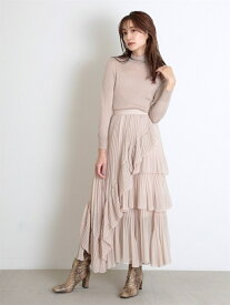 [Rakuten Fashion]シアーボリュームプリーツスカート SNIDEL スナイデル スカート ロングスカート ホワイト ピンク【送料無料】