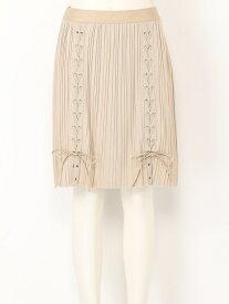 [Rakuten Fashion]【SALE/45%OFF】プリーツレースアップスカート SNIDEL スナイデル スカート プリーツスカート/ギャザースカート ベージュ ブラック【RBA_E】【送料無料】