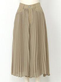 [Rakuten Fashion]ウエストスウィッチプリーツSK SNIDEL スナイデル スカート プリーツスカート/ギャザースカート ベージュ ブラック【送料無料】