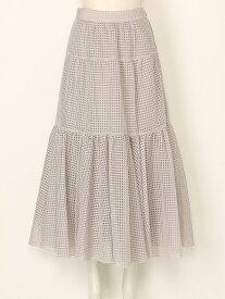 [Rakuten Fashion]【SALE/45%OFF】チェックシアーSK SNIDEL スナイデル スカート ロングスカート ベージュ ブラック ネイビー【RBA_E】【送料無料】